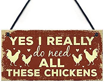 Kitchen Sign Funny Chicken Sign Novelty Birthday Gift for Chicken Lovers Chicken coop,Chicken coop House Decoration Sign