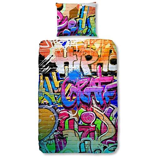"Good Morning ""Graffiti""-Kinder-Bettbezug, Mehrfarbig"