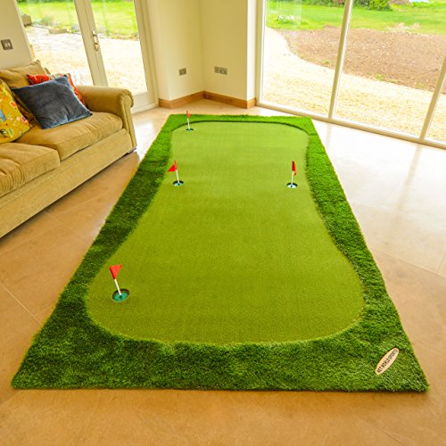 FORB Professionelle Puttingmatte – Standard 3,7m x 0,98m oder Größe XL 4m x 2m – Eine Golf Puttingmatte für den Innen- und Außenbereich. (Größe XL)