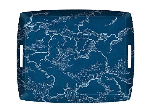 PLATEX 4054431187 Plateau Acrylique Nuage Bleu, ACRYLQUE, 54X43