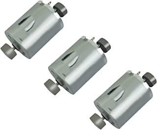 BestTong DC 3V-12V 6V 4300RPM Brushed Vibration Motor DOUBLE-HEAD High Torque Electric Vibrating Motors with Eccentric METAL-HEAD Rotating Mass Pack of 3
