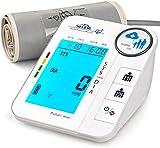 Misuratore Pressione con 2 * 128 Memorie,SIMBR Misuratore a Pressione da Braccio Digitale ...