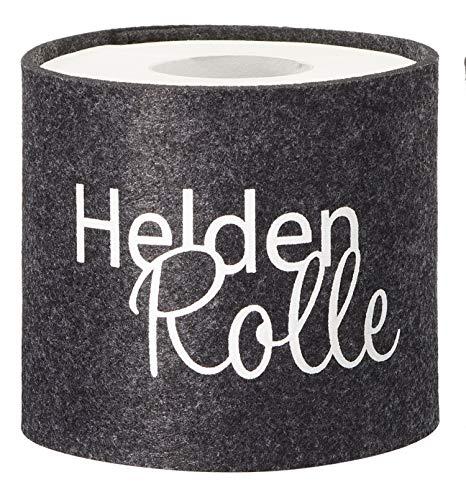 Fitsch Online UG cadeau-idee grappig toiletpapier banderol met spreuken vilt grijs/zwart