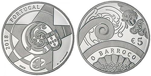 TGBCH Portugal 5 Euro, O Barroco - Europa Star - Silver Proof 2018 Coin