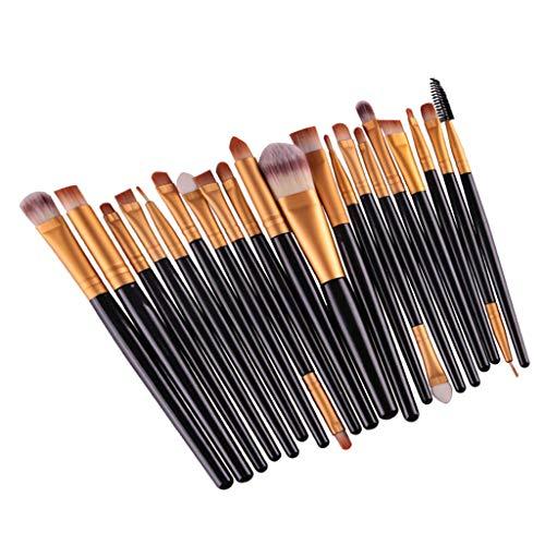 20pcs / Set Pinceaux de Maquillage Brosses de Maquillage pour Yeux Fard à Paupières - Noir doré