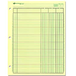 National Brand Analysis Pad 3 Columns Green Paper 11 x 8 5 Inches 50 Sheets 45603