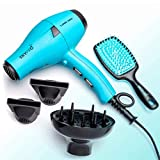 Professional Series Ionic Hair Dryer with Diffuser by SKYPRO | Small,...