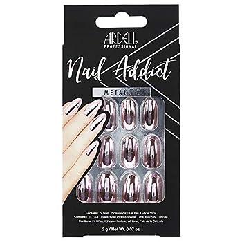 Ardell Nail Addict Artificial Nail Set Metallic Pink