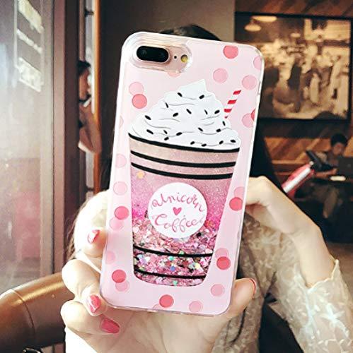 Funda líquida para iPhone XS Max XR 8 7 Plus Case para iPhone SE 5 5S 7 8 6 6s Plus Funda Cat Perfume Quicksand Dynamic Cover-in de teléfonos móviles y telecomunicaciones, helado para iPhone 7