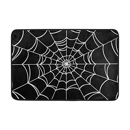 XUWU Doormat Indoor Door Mats Goth Spider Web Non Slip Floor Mats Entrance Rug Bath Pad for Kitchen Bathroom 23.6 x 15.7 inch