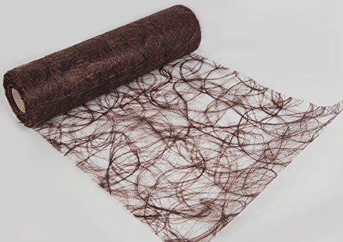 Chemin de table chocolat structure chemin de table - 25 m-découpable-largeur: 30 cm
