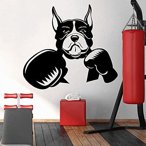 Fai da te cane boxer adesivi murali adesivi carta da parati camera da letto decorazione della casa impermeabile autoadesivo wall art decalcomanie A8 57x63 cm