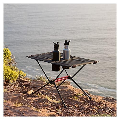 ZHMEHE Mesas Plegables De Picnic Mesa De Aluminio, Tela De Nailon + Mesa De Camping Plegable De Aluminio con Ranura para Tazas, para Mesas De Comedor Al Aire Libre para Camping/Banquete/Fiesta
