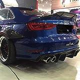 Spoiler de Techo de Fibra de Carbono alerón de ala Cubierta de Arranque de Labio Labio Car Styling para Audi A3 S3 RS3 2014-2018