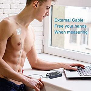 Heart Monitor, Personal Bluetooth Heart Health Tracker w Free APP for iOS Android Phone & PC Software, Portable Handheld 30s/60s/5min Recording Heart Monitoring Device for Fitness Home Use