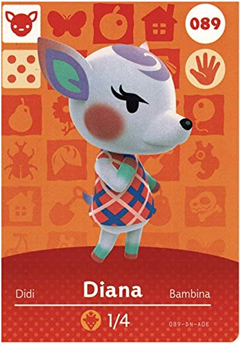 No.089 Diana Animal Crossing Villager Cards Series 1. Third Party NFC Card. Water Resistant