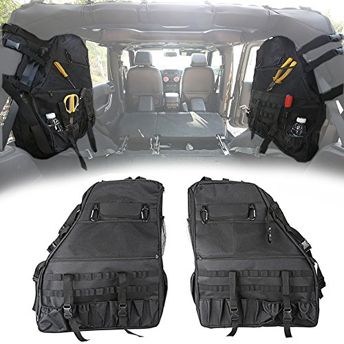 Left Roll Bar Storage Cargo Bag Trunk Accessories For 2018 2019 Jeep Wrangler JL