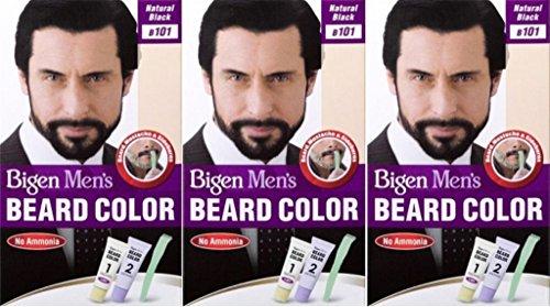 Bigen Bartfarbe für Herren, naturschwarz/Farbnr. B101, 3 Packungen