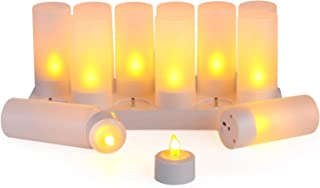 LEDキャンドルライト 充電式キャンドルライト 12個セット 屋内屋外 飾りクリスマスツリー/結婚式/誕生日/パーティーホリデー/スパ/ホテル/レストラン 装飾用 LEDティーライト