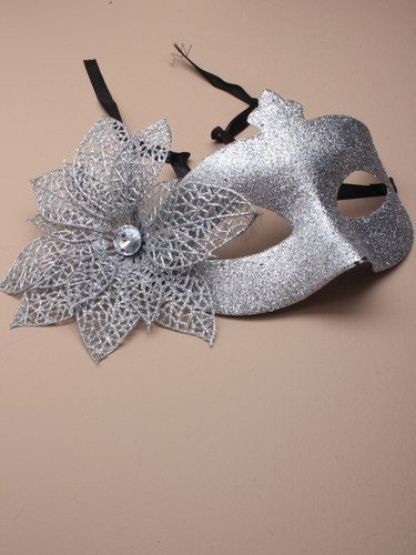 Crystal innovation REF 4294 (silver) Glitter mask with flower side detail. by Crystal Innovation