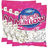 Mini Marshmallow Flavored, Natural Colors & Flavors Only, Fat-Free, OU Kosher Parve, 6.17oz Bag (White Marshmallow, 3-Pack)
