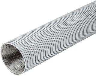 Durchmesser 125mm Länge 1.5m Weiß Alu Flexrohr - Alurohr Flexschlauch Schlauch Aluflexschlauch Flex-Schlauch Lüftungsrohr