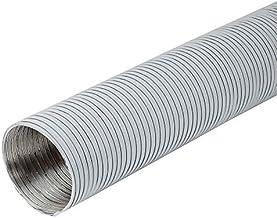 Ø 125 mm lengte 1,5 m wit aluminium flexibele buis - aluminium buis flexibele slang aluminium flex slang flexibele slang v...