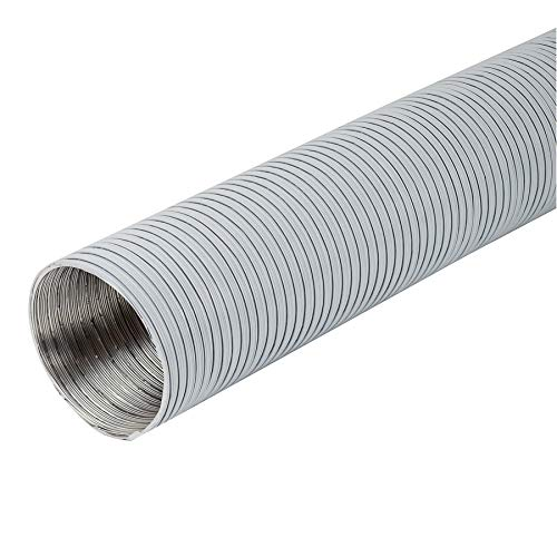 Ø 120mm Länge 1.5m Weiß Alu Flexrohr - Alurohr Flexschlauch Schlauch Aluflexschlauch Flex-Schlauch Lüftungsrohr