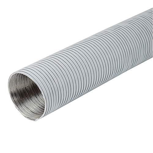 Tubo flexible de aluminio (120 mm de diámetro, 1,5 m de longitud), color blanco