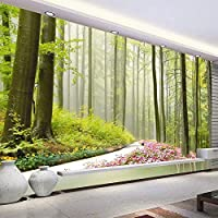 自然林3D壁壁画花道周辺カスタム写真壁紙リビングルームの入り口の壁の背景家の装飾, 200cm×140cm