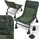 DNA Leisure NGT Camo Nomadic Carp Coarse Fishing Camping Chair Large Adjustable Mud Feet