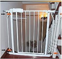 ベビーゲート フェンス ドア付き 階段や廊下の壁には、デュアルロックベビーゲート簡単に調節可能なエキストラ安全な階段子供の安全ドアパンチフリーインストールマウントペットフェンス圧力締結(Hの78センチメートル) (Color : High78cm, Size : 98~109.9cm)