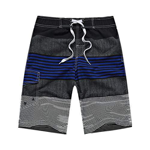 N\P Pantalones de playa de los hombres a rayas casuales pantalones cortos de verano de surf pantalones de