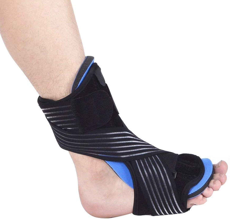Generic Foot Drop Foot Instep Orthotic Rehabilitation with Massage Ball Bracket Plantar Fasciitis Brace Posterior Night Splint Sleep Black