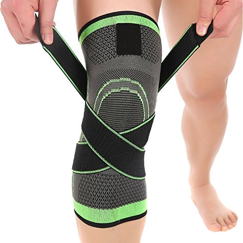 AngkerKniebandage,bequem und atmungsaktiv, für Kompression, 1Stück, 3-dimensional gestrickt, Gelenkschmerzlinderung,Reha-Training, Wandern, Gewichtheben