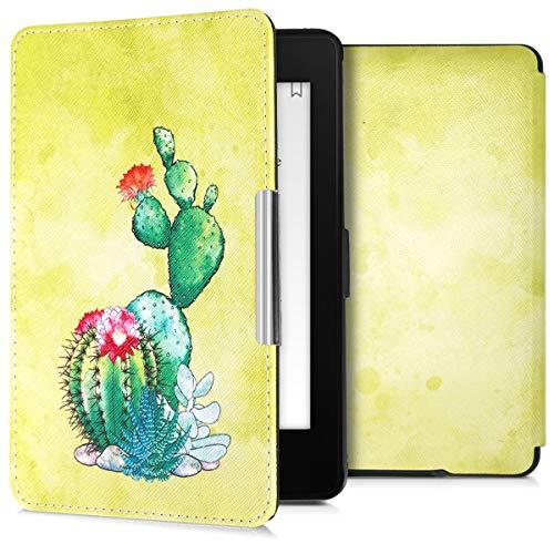 kwmobile Funda Compatible con Amazon Kindle Paperwhite - para eReader - Cactus (para Modelos hasta el 2017)