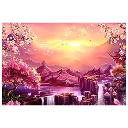 Puzzle 1000 Teile, Kirschblüten Puzzle für Erwachsene Kinder,Impossible Puzzle,Geschicklichkeitsspiel für die ganze Familie,Farbenfrohes Legespiel,Papier Große Puzzle, 38x26 cm / 15 x 10.2 inch