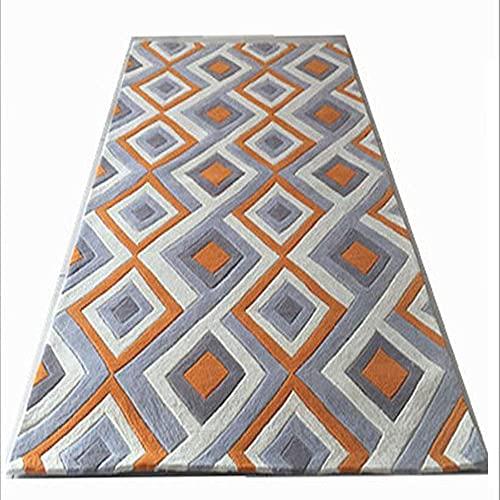 Teppiche Teppich Nachttisch orange handgefertigte Acryl Schlafzimmer Nachttisch Sofa einfache moderne Wohnzimmer Couchtisch, Nachttisch aus Acrylkissen (Gr??e:1,6 * 2,3 m) ( Color : 1.6*2.3m )