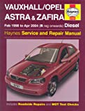 Vauxhall/Opel Astra and Zafira Diesel Service and Repair Manual: 1998 to 2004 (Haynes Service and Repair Manuals)