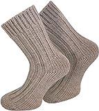 normani 4 Paar Alpakasocken in extra weicher & warme Qualität Farbe Beige Größe 43/46