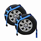 US Cargo Control Blue Extra Large Vehicle Tow Dolly Basket Tie Down Straps with Flat Hooks | 2 Pack