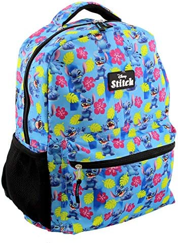 Lilo and Stitch Girl s Boy s Adult s 16 Inch School Backpack Bag One Size Blue product image