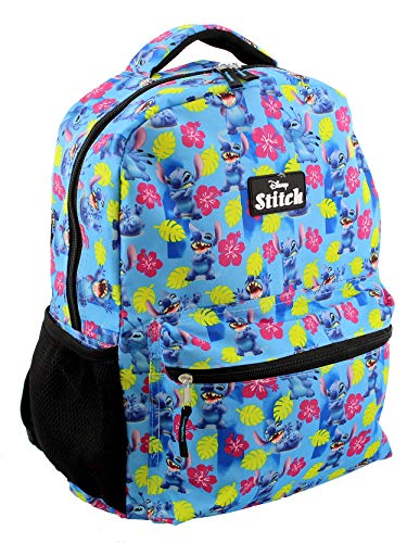 Lilo and Stitch Girl's Boy's Adult's 16 Inch School Backpack Bag (One Size, Blue)
