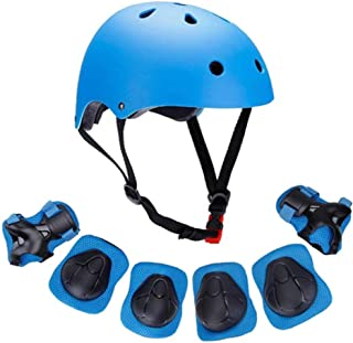 Kids Bike Helmet, Toddler Helmet for Ages 3-8 Boys Girls with Sports Protective Gear Set Knee Elbow Wrist Pads for Skatebo...