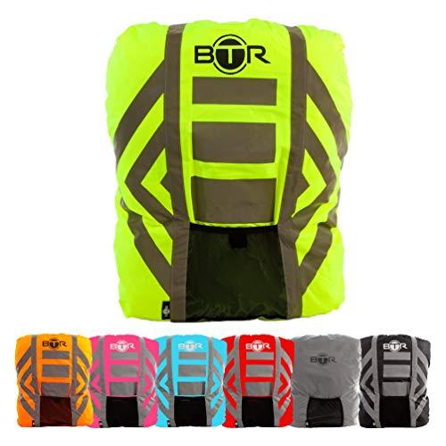 BTR Wasserfester Regenschutz für den Rucksack, Regenschutz für Schulranzen. Gelb. Large.