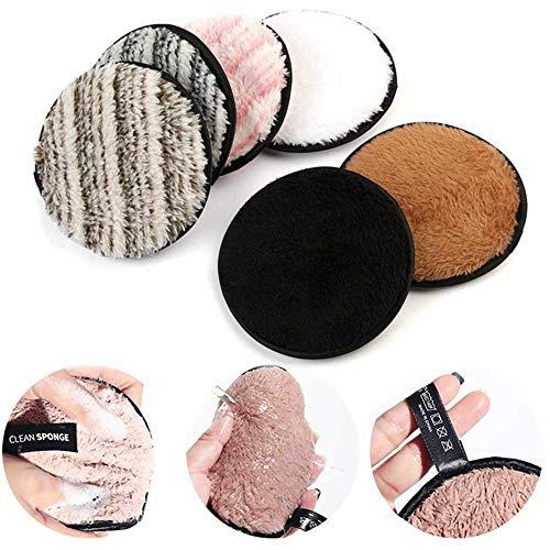leegoal 3 Unidades Toalla Desmaquillante Facial Microfibra Lavable/Reutilizable,Maquillaje Remover Paño
