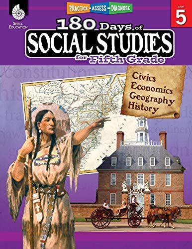 180 Days of Social Studies Grade 5 Daily Social Studies Workbook for Classroom and Home Cool product image