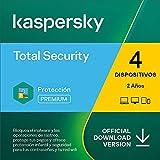 Kaspersky Total Security 2021   4 Dispositivos   2 Años   PC / Mac / Android   Código de activación enviado por email