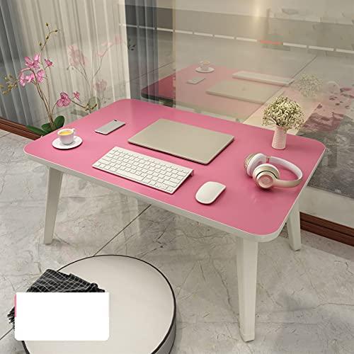 QNMD Extensión de la computadora portátil de la computadora portátil con la Tabla Perezosa Ajustable Plegable de la Mesa de la Mesa del Estudiante de la Mesa de la Mesa 520 (Color : Pink)