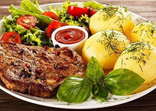 Fleisch Steak Sauce Tomaten Kartoffeln Salat 1000 Puzzle Kinder Lernspielzeug Herausforderung Brainpower Holzpuzzles